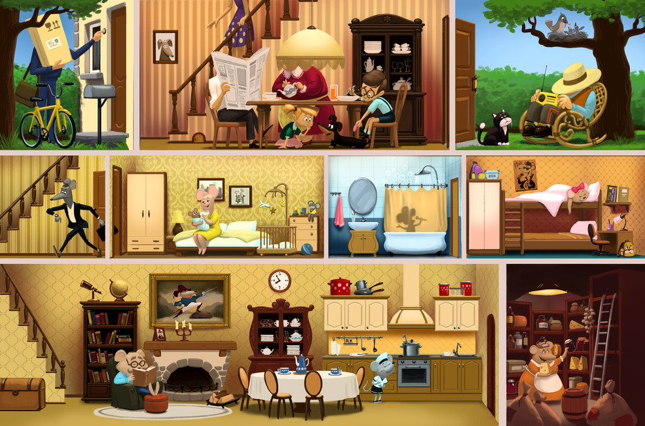 Mice's Life Story. Country House