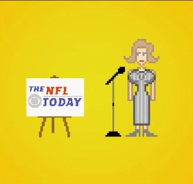 CBS Sports NFL Today Pixel People Campaign Yuppy