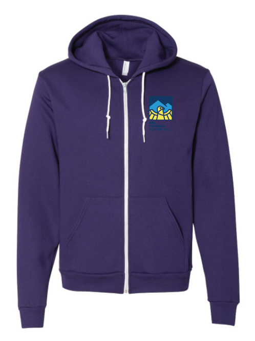 Youth American Apparel Zip Up Hoodie - multi color options