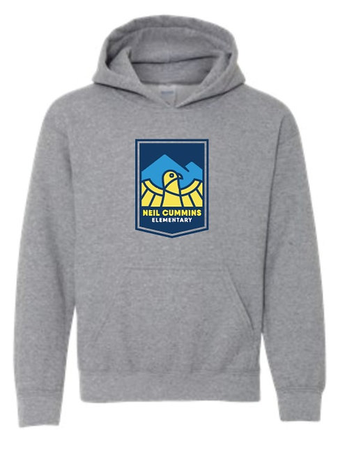 Youth Pullover Hoodie - graphite heather