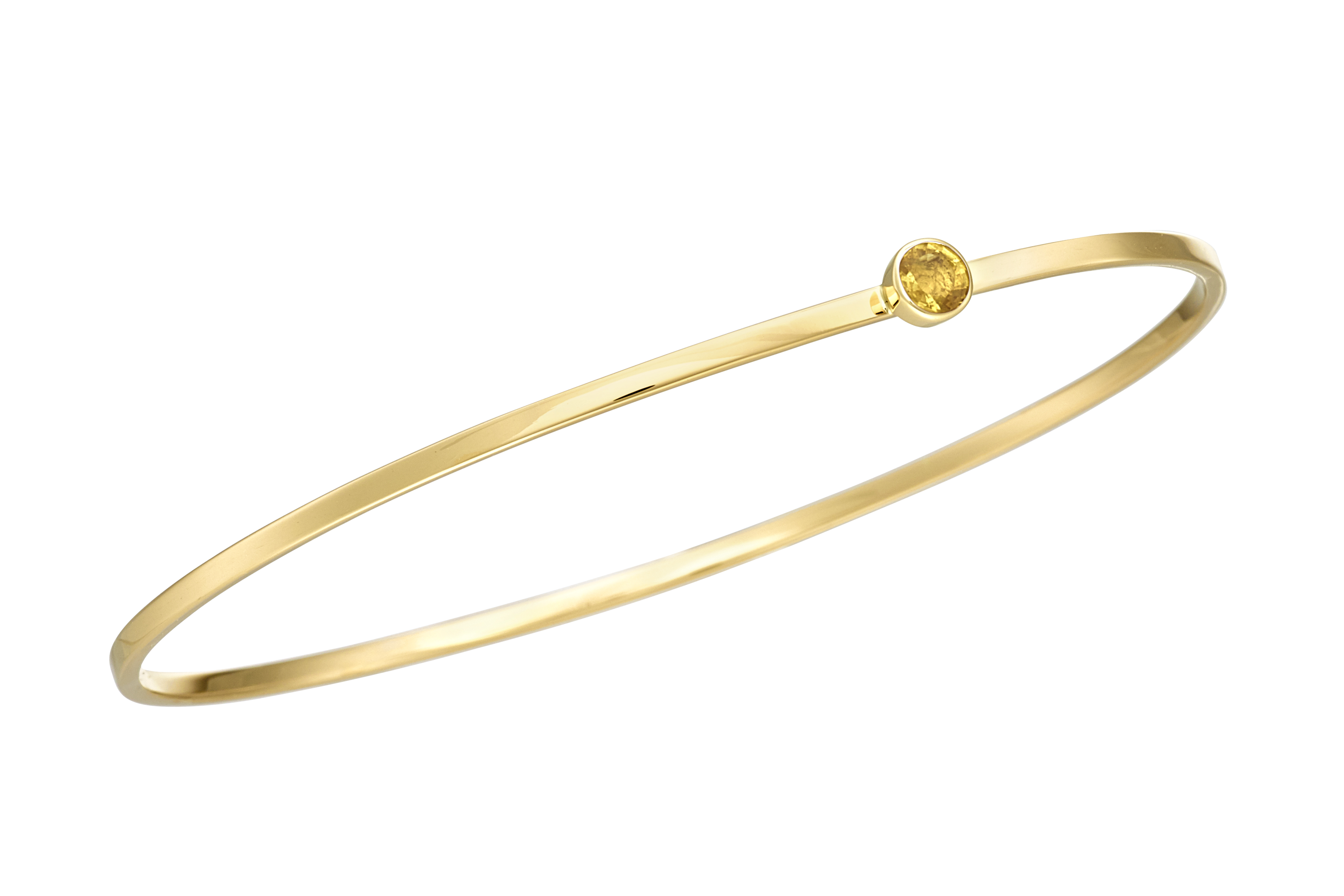 18ct yellow Gold yellow Sapphire Bangle