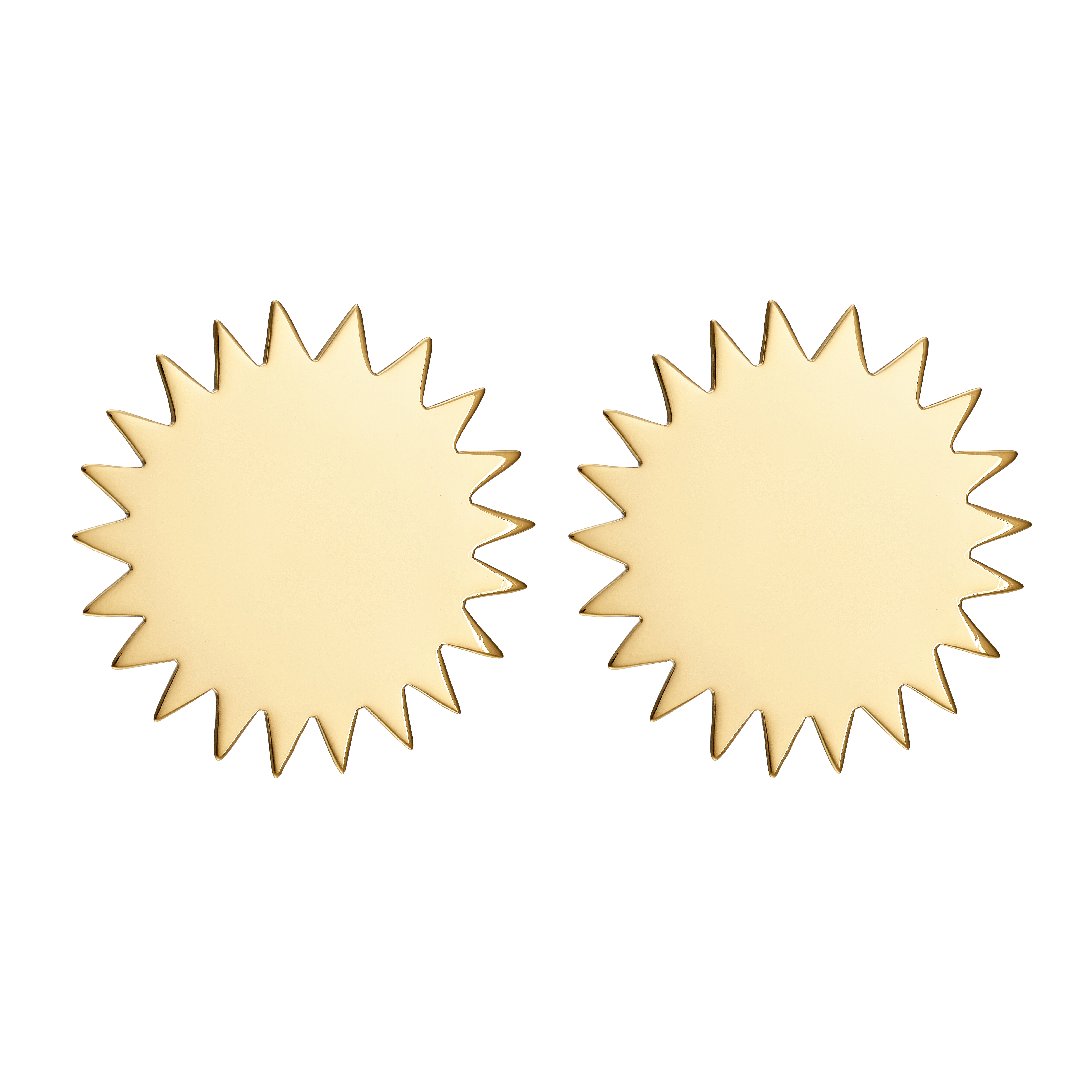 Solen Disc Earrings