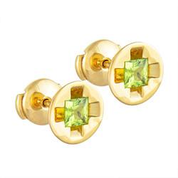 Screw It Earrings, green peridot