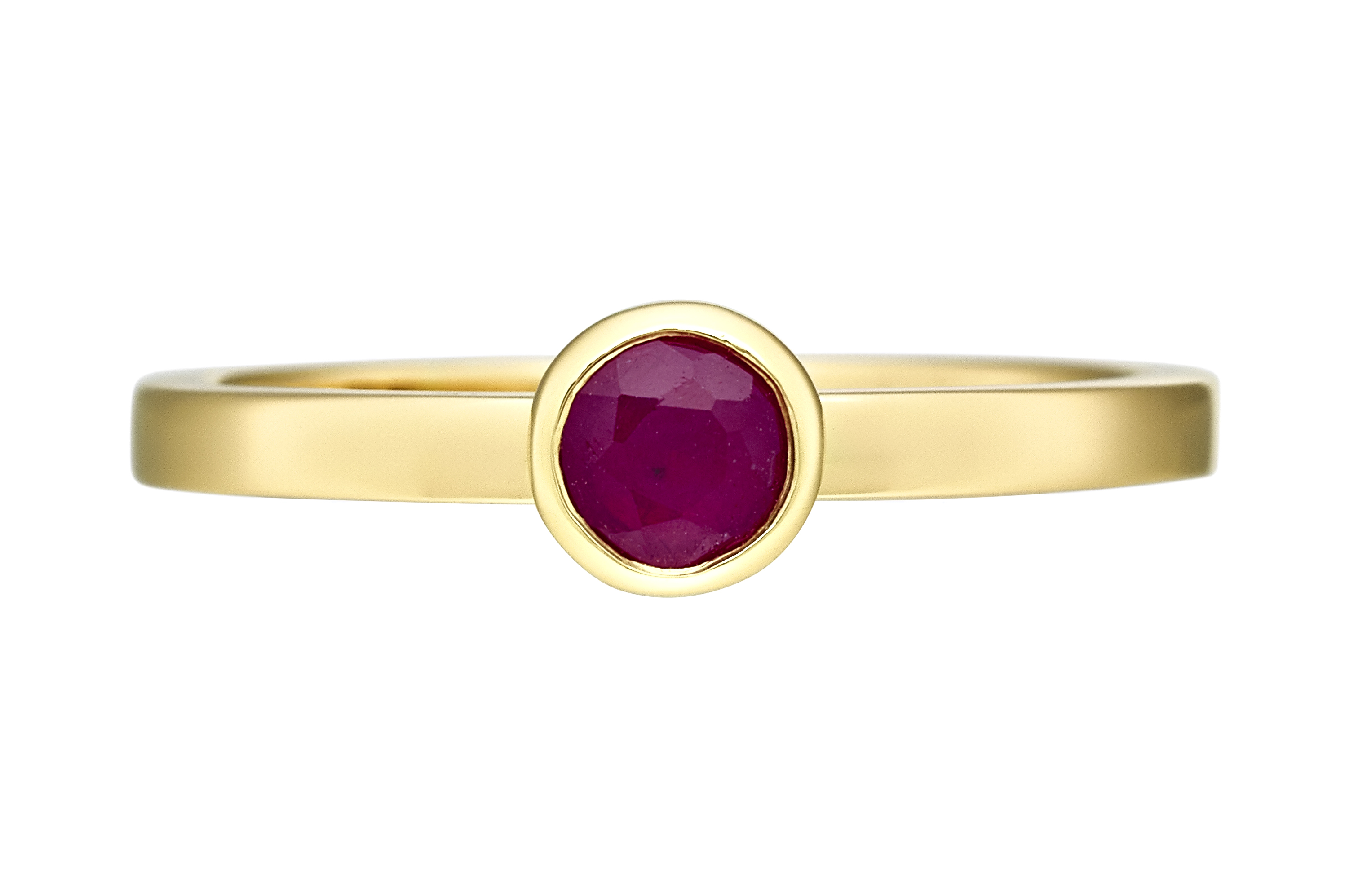 18ct yellow Gold Pink Ruby Ring