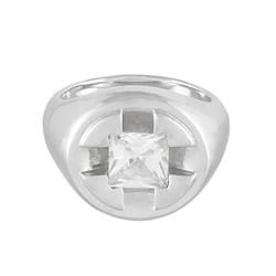 Screw It Signet Ring (silver :white)