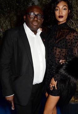Jourdan Dunn & Edward Enningful Vogue Dinner Party