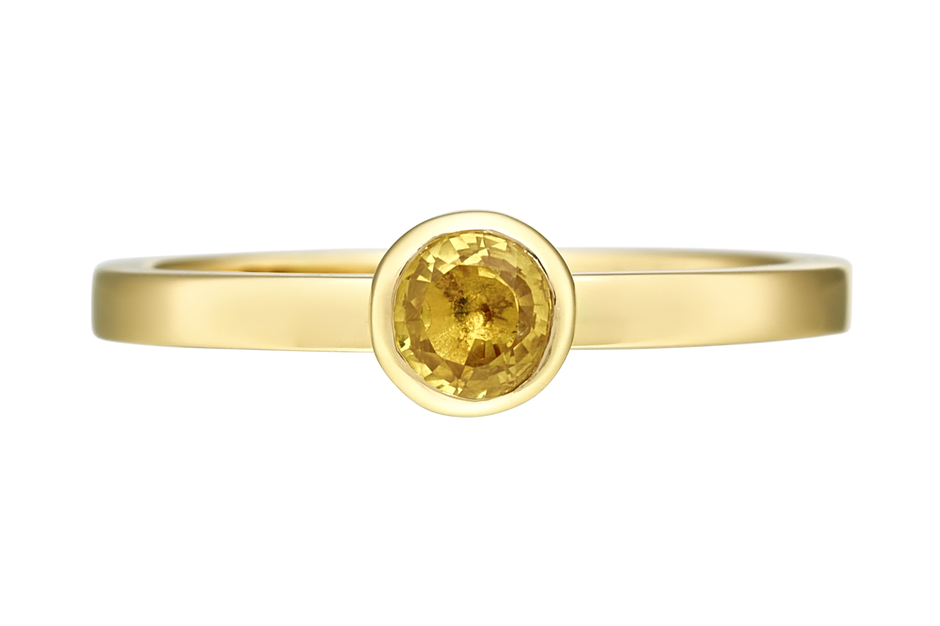 18ct yellow gold yellow Sapphire Ring
