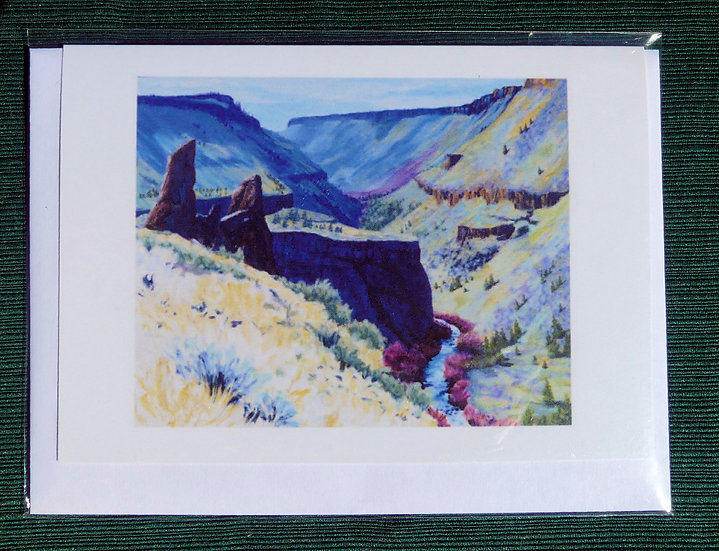 Autumn Day In The Deschutes Canyon - Note Card