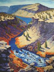 40-x-30-Oil-&-Wax-on-panel-Deschutes-River-Overlook