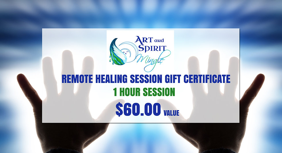 Remote Healing Session Gift Certificate