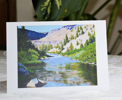 Canyon Reflections Greeting Card