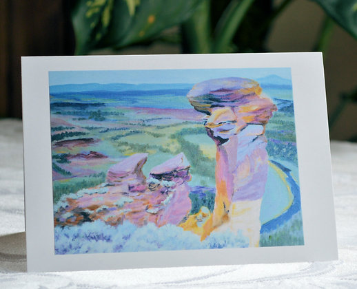 Monkey Face From Above - Greeting Card