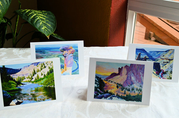 4 Pack -  Central Oregon Greeting Cards