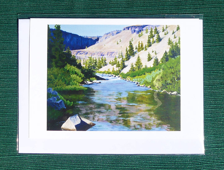 Canyon Reflections  -  Note Card