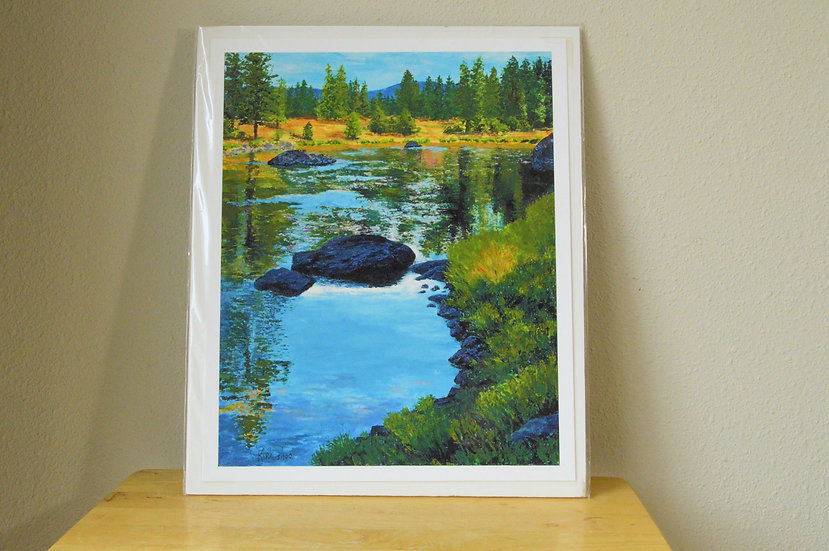 Autumn Day on The Blackfoot - Giclee Print on Paper