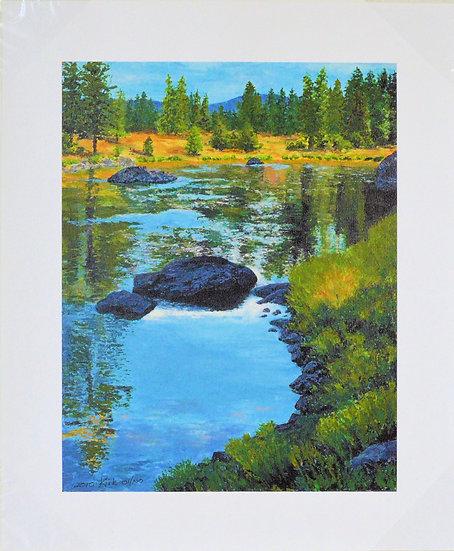 Autumn Day on The Blackfoot - Giclee Print on Canvas