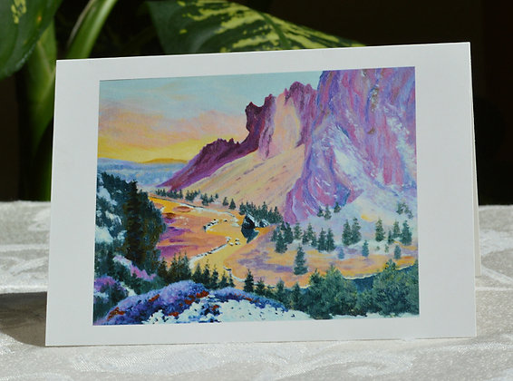 Smith Rock - Winter Sunset  Greeting Card