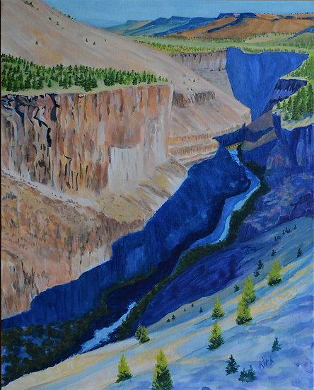 Up The Crooked River Canyon