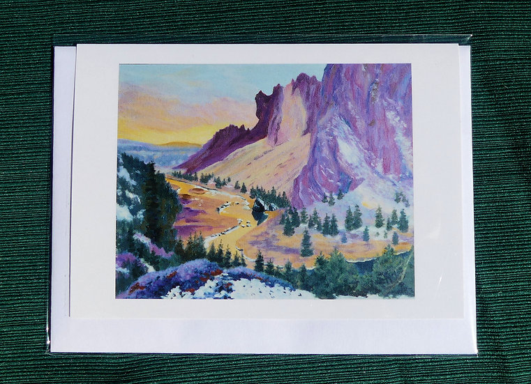 Smith Rock - Winter Sunset - Note Card