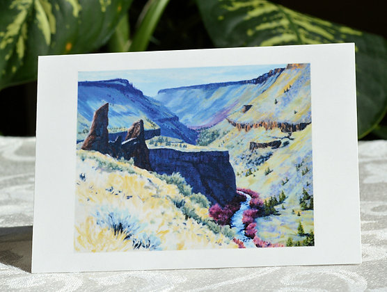Autumn Day In The Deschutes Canyon - Greeting Card