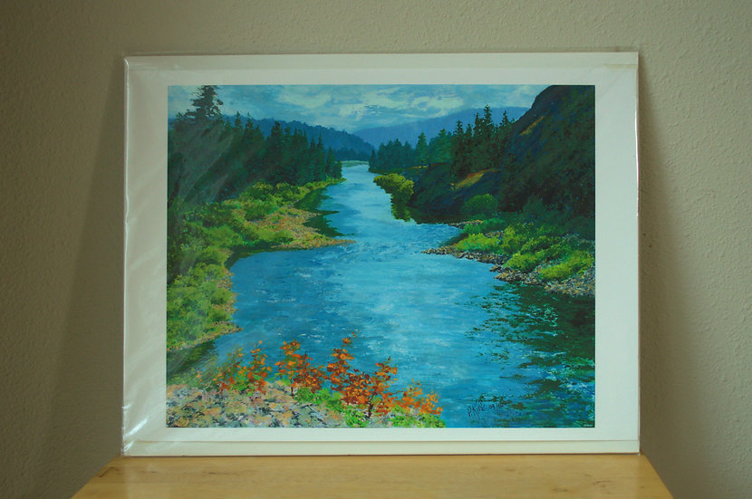 River Passage  -  Giclee Print on Paper