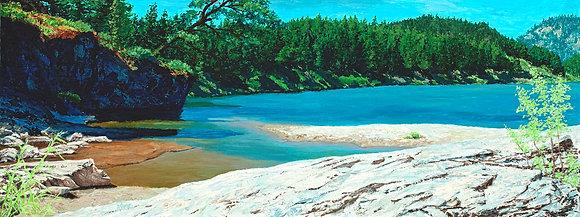 The Blackfoot River - Goose Rock Flats
