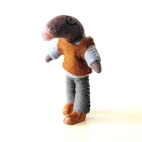 Felt Mr Mole Doll from Papoose