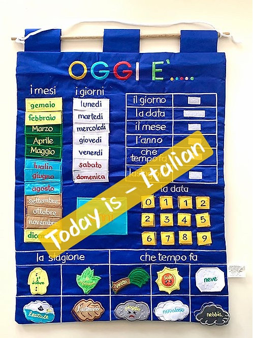 Today Is - Italian Fabric Wall Chart
