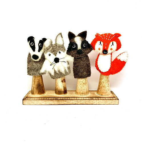 Papoose Woodland Finger Puppets 4pc