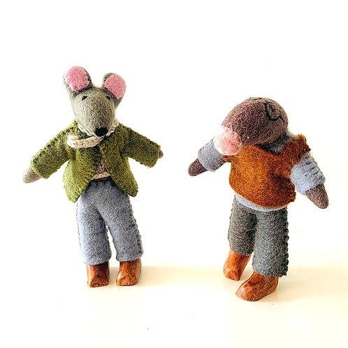 Papoose Felt Mr Ratty Doll