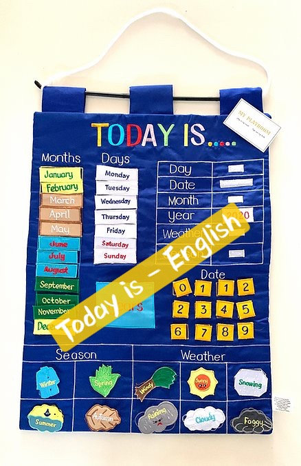 Today Is Fabric Wall Chart (Blue)