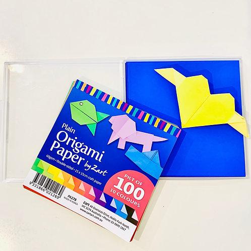 Origami Paper 15x15cm 100's Plain