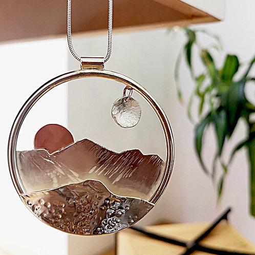 Sun And Moon Mountain Pendant