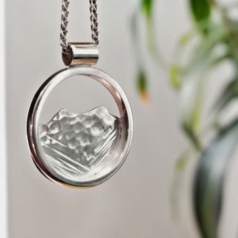 Blencathra Round Pendant - Silver