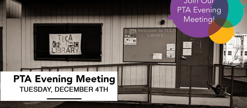 Monthly PTA Meeting - December 4th