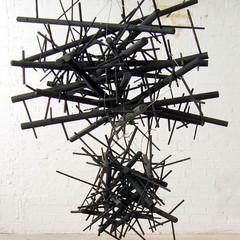 Storm Cloud Emulsion on wood; steel; steel cable 150cm(h) x 120cm(dia.) 2009