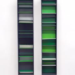 Untitled (Climate elements) Enamel acrylic spray on birch plywood; aluminium bar; steel 25cm(w) x 50cm(h) x 5cm(d) 2018