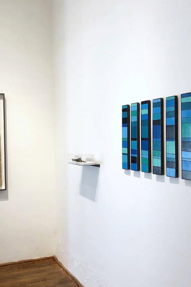 The Weight of Gravity (installation view)   (solo) exhibition: Interseccion Arte Contemporaneo, MX Nov-Jan 2021