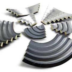 Timelapse Emulsion on wood; polished aluminium 25cm(h) x 100cm(dia.) 2012
