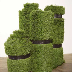 Stack artificial grass; vinyl tape 100cm(h) x 55cm(dia.) 2006
