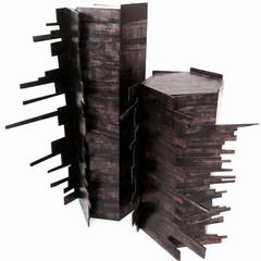 Untitled (Turning Points) Mixed media; wood 75cm(h) x 75cm(dia.)   2016