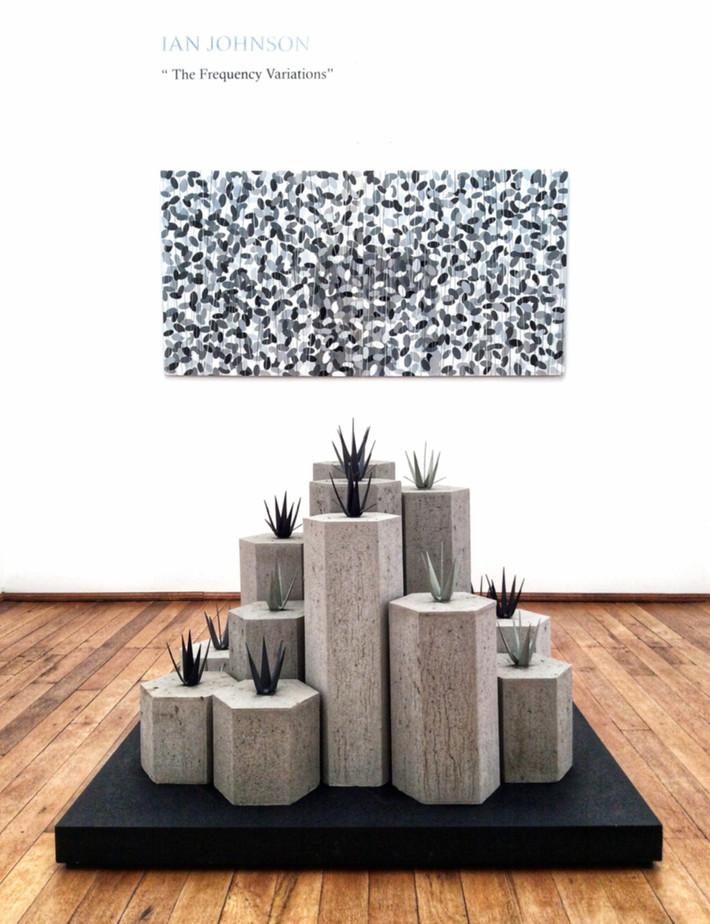 (solo) exhibition: Frequency Variations (installation detail)  Interseccion Arte Contemporaneo, MX April - June 2017