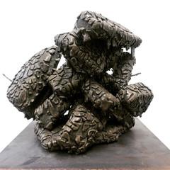 'Untitled (Geo-Therm)' Ceramic; mixed media; steel base 30cm(h) x 24cm(w) x 24cm(d) 2020