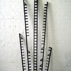 Fault Lines Emulsion on wood; steel 200cm(h) x 100cm(w) x 30cm(d) 2007