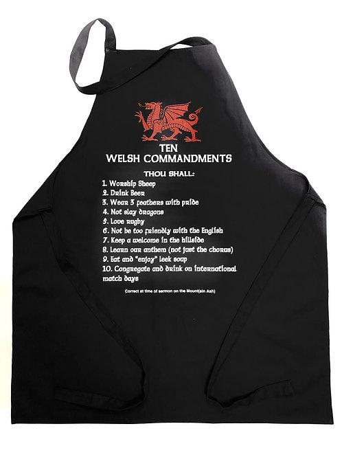 10 Welsh Commandments Apron