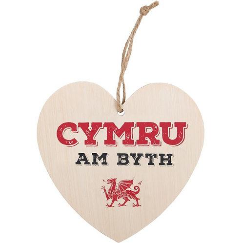 Cymru Am Byth Heart Sign