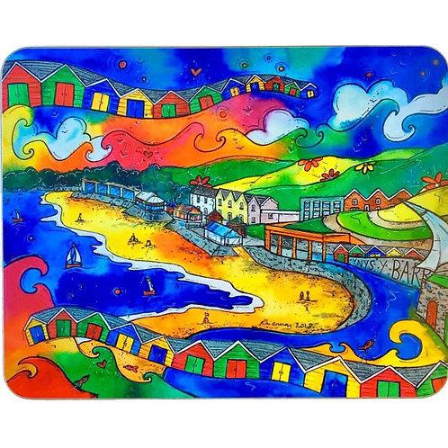 Rhiannon Art Beach Huts Cork Coaster