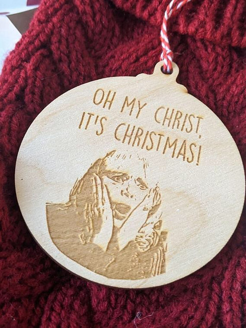 Oh My Christmas - Wooden Bauble