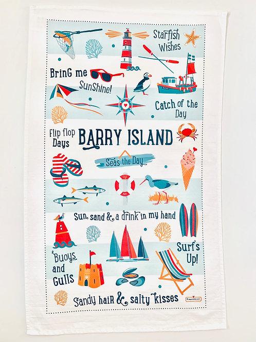 Barry Island Tea Towel