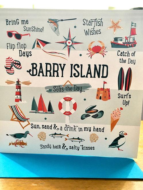 Barry Island 'Seas The Day' Greeting Card